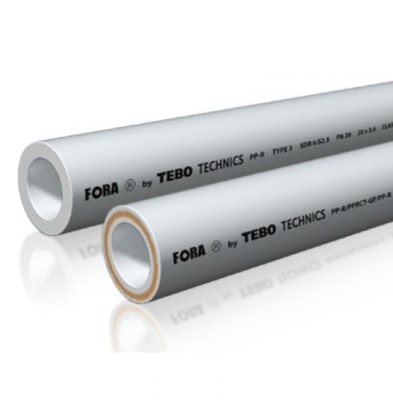 Труба SDR 7,4 (стекловолокно) FORA (белый цвет)